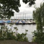 Blick auf die Alster – Bootssteg